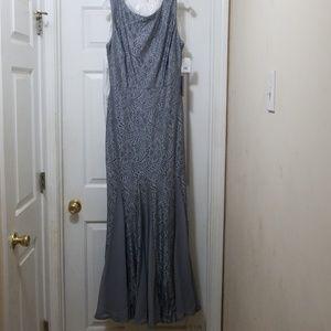 91667735d540 violet and roses-davids bridal Dresses - Stretch lace bridesmaid dress with godet  skirt